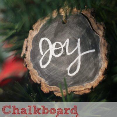 Chalkboard Wood-Slice Ornaments