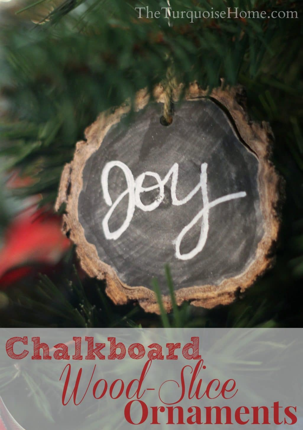 Chalkboard Wood-Slice Ornaments