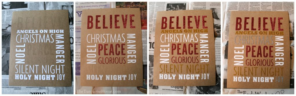 Glittery Christmas Subway Art - Ready for Glitter