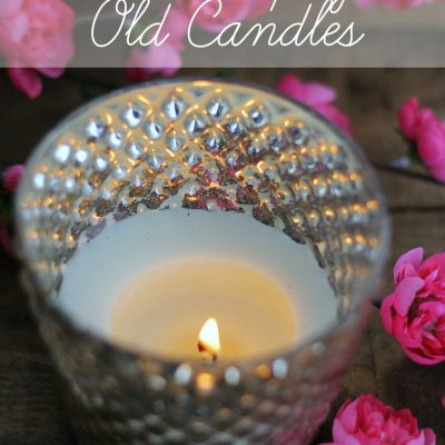 Upcycle Old Candles {find out all the details at TheTurquoiseHome.com}