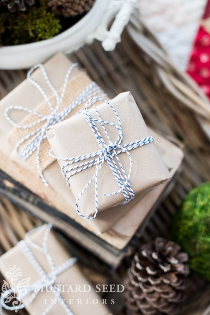 Simple Twine Wrapping from Miss Mustard Seed