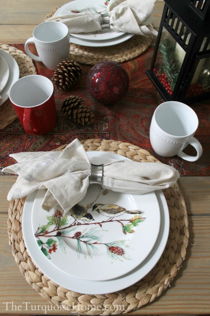 Christmas Home Tour 2013: Pretty in Plaid - Winter Song by Lenox