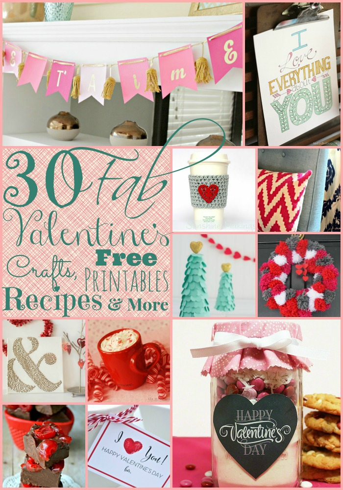 30 Fabulous Crafts, Recipes, Free Printables and More