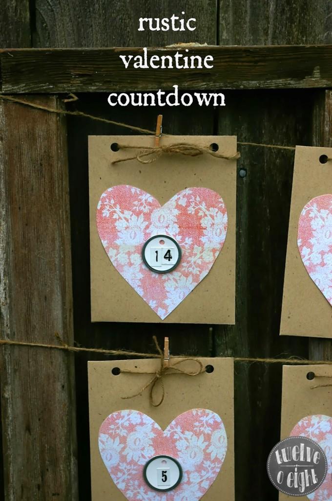 DIY Rustic Valentine Countdown Calendar