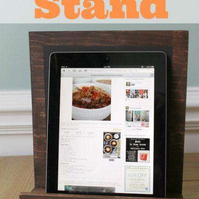 DIY Chalkboard and iPad Stand