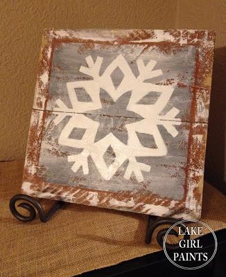 Rustic Gray Snowflake