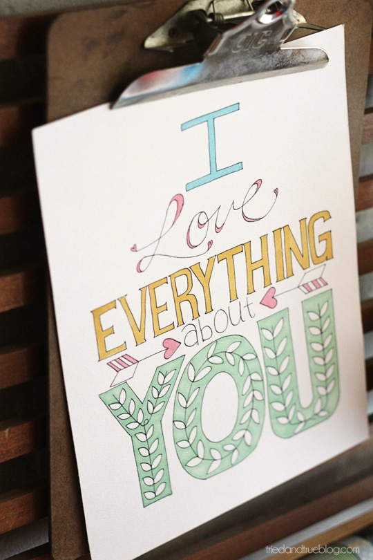 I Love Everything Coloring Printable
