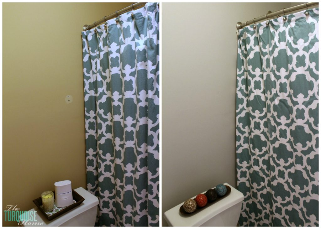 Beige to Gray: Before & After Guest Bathroom