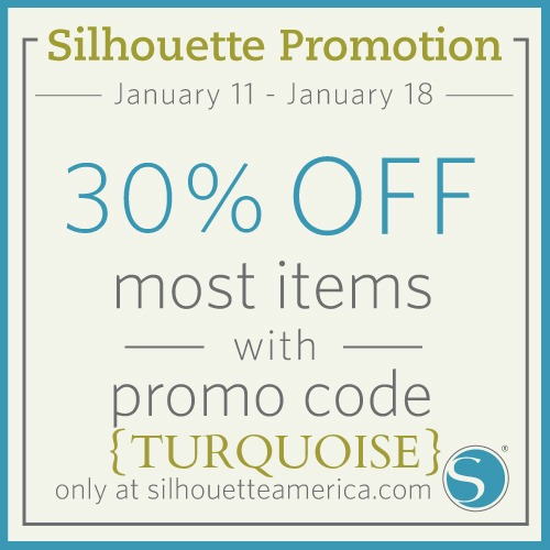 Silhouette Sale! {30% off materials}