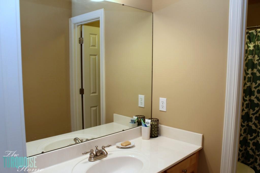 Builder's Beige Guest Bathroom