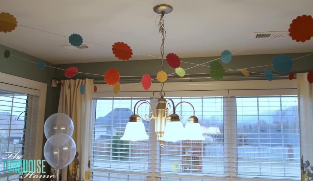 Confetti garland #sprinkles #birthday