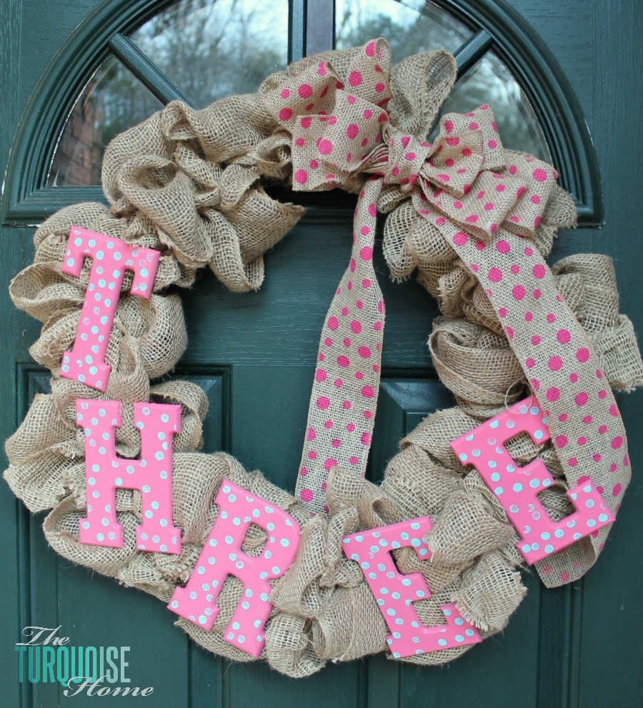 DIY Burlap Birthday Wreath