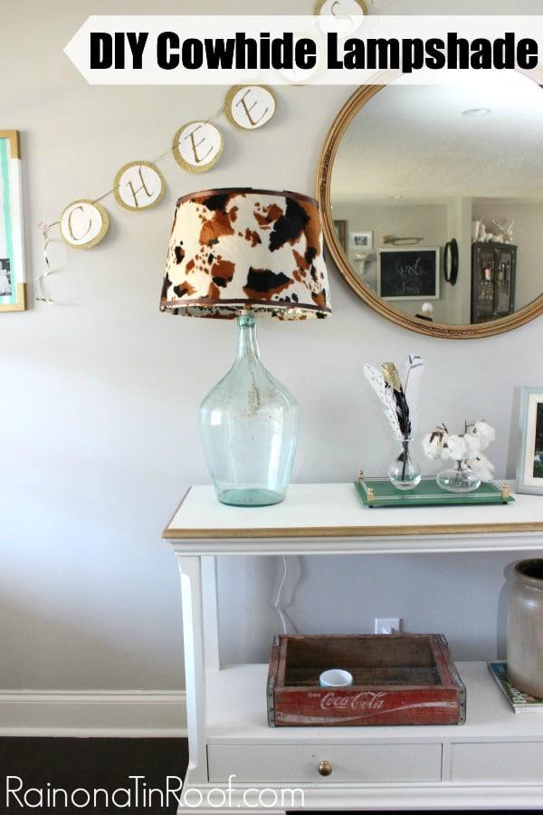 DIY Cowhide Lampshade