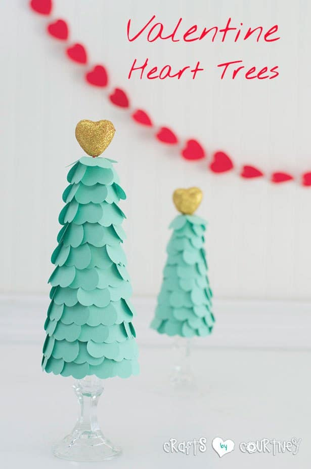 DIY Valentine's Heart Trees