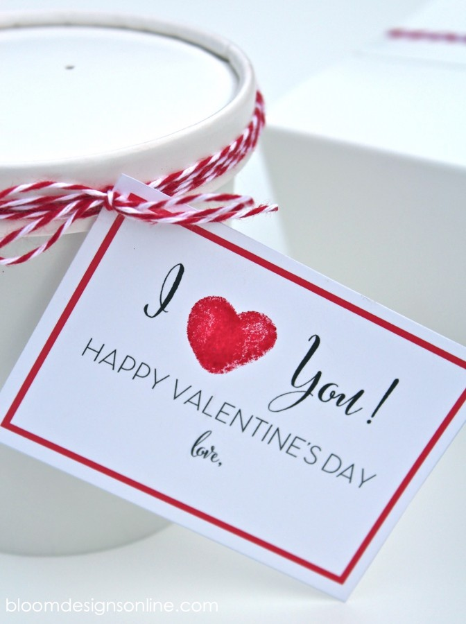 Fingerprint Valentine Card