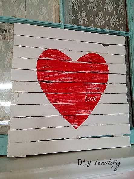 Wood Shims Mini Pallet Valentine's Day Sign