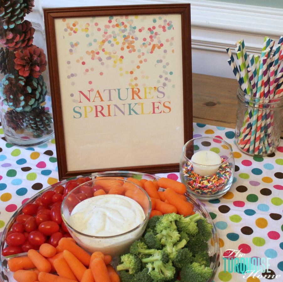 Vegetables: Nature's Sprinkles #birthday
