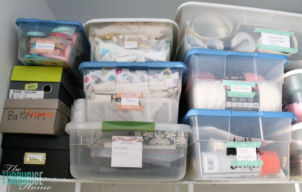 Organizing and Labeling the Closet