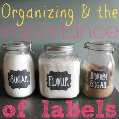 Organizing and the Importance of Labels
