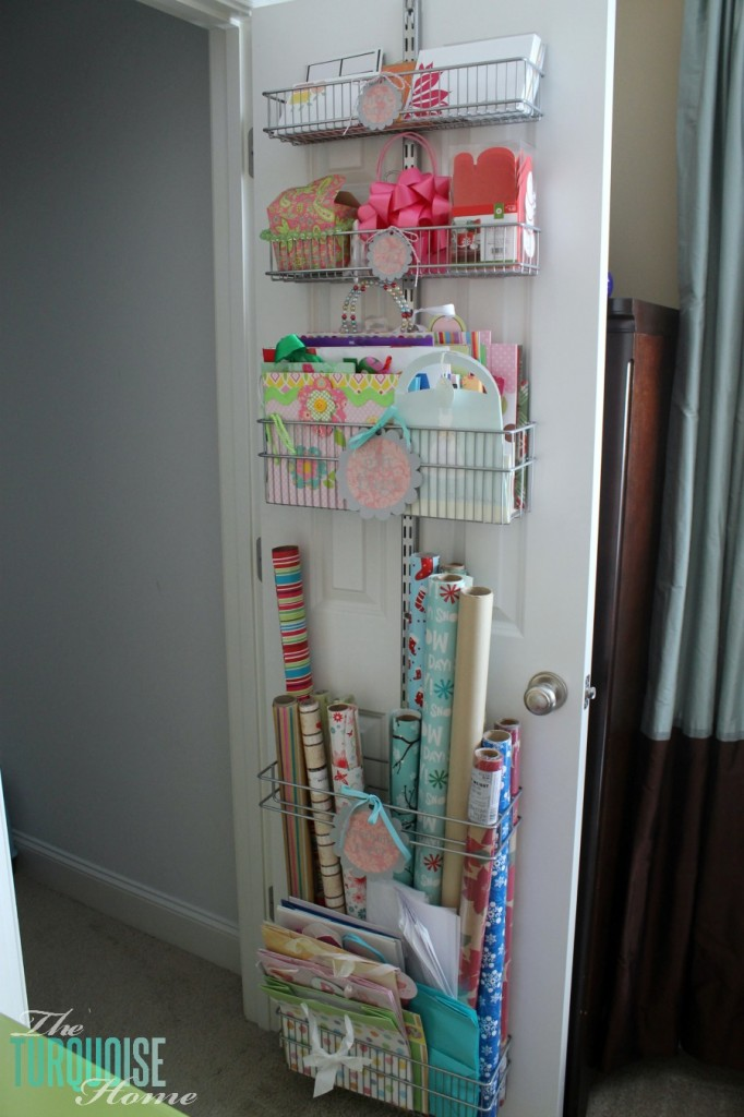 Over-the-Door Gift Wrapping Station