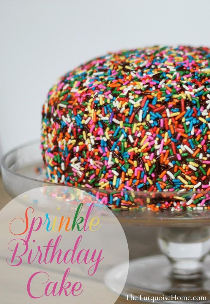 Sprinkle Birthday Cake #sprinkles #birthday