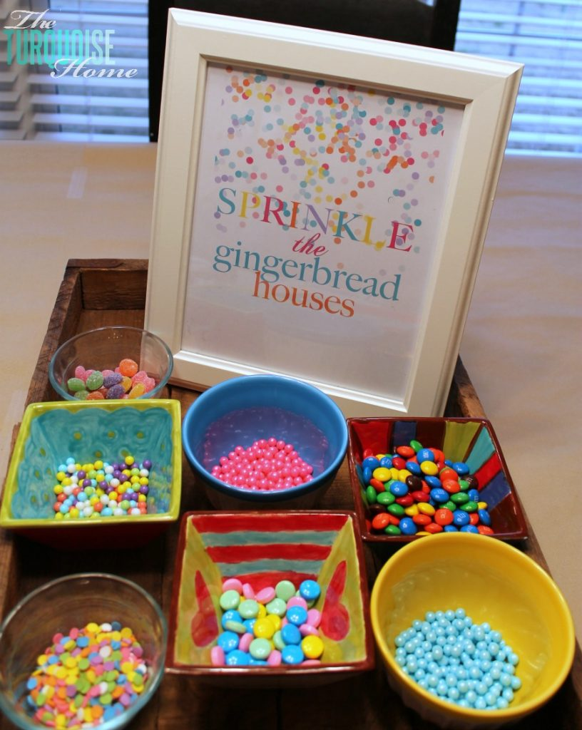 Sprinkle Gingerbread Houses #sprinkle #birthday