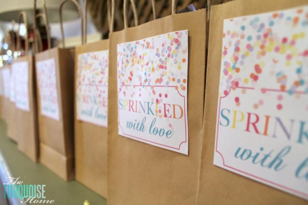 Sprinkled with Love Treat Bags #sprinkles #birthday