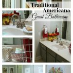Traditional Americana Guest Bathroom Makeover
