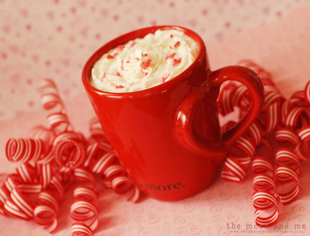 Valentine's Pink Peppermint Hot Chocolate