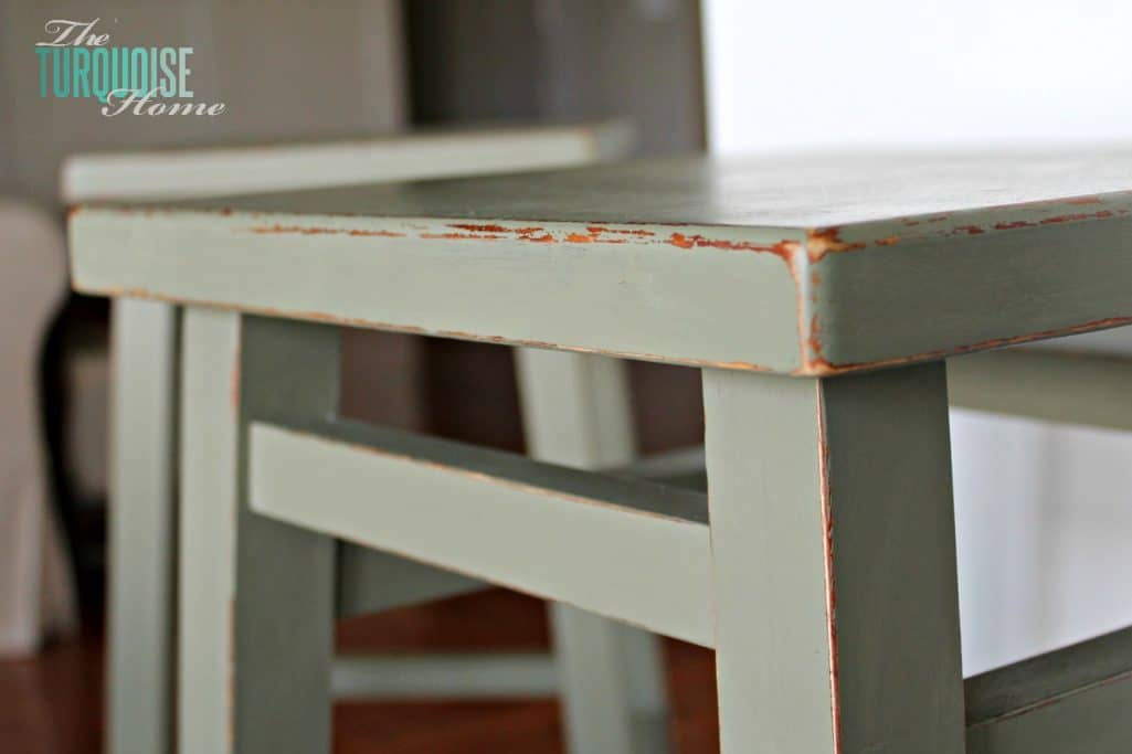 Chippy Painted Barstools