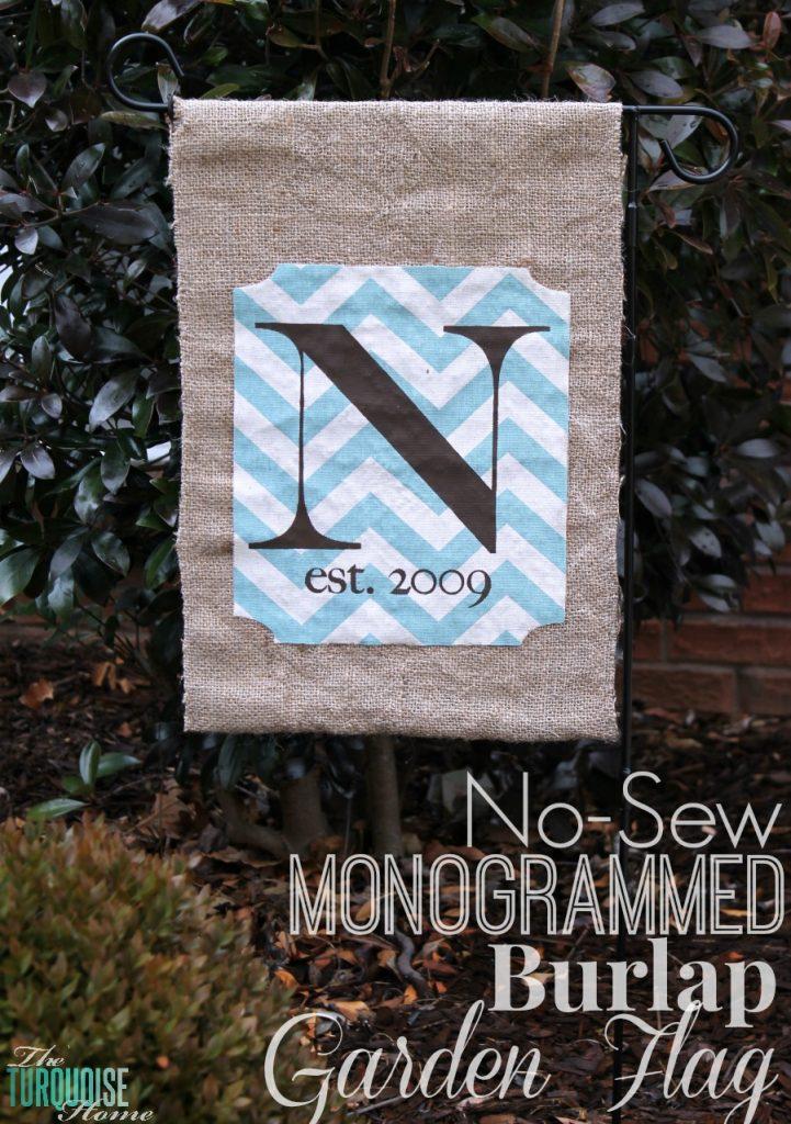 No Sew Burlap Monogrammed Garden Flag {full Tutorial}