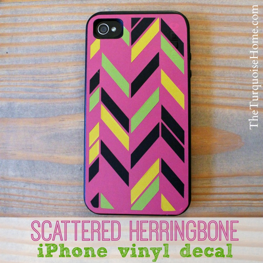 Scattered Herringbone iPhone Vinyl Decal