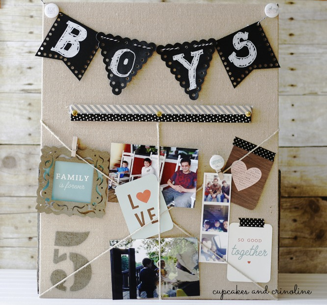 Burlap, Twine and Chalkboard Banner Art
