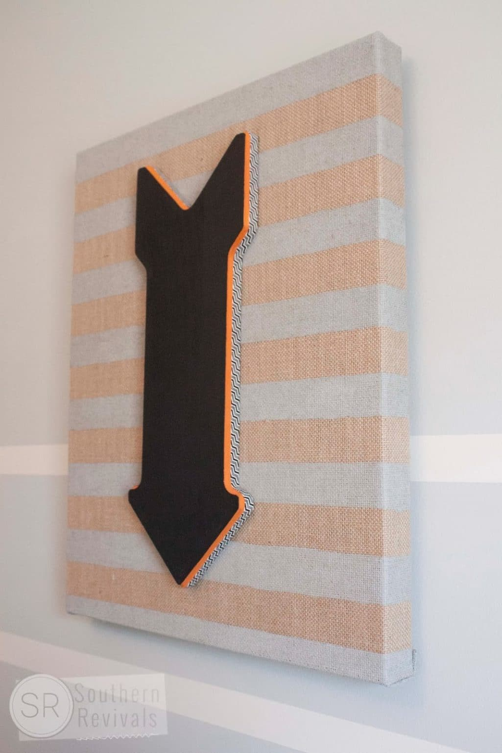 Burlap Canvas Arrow Wall Art
