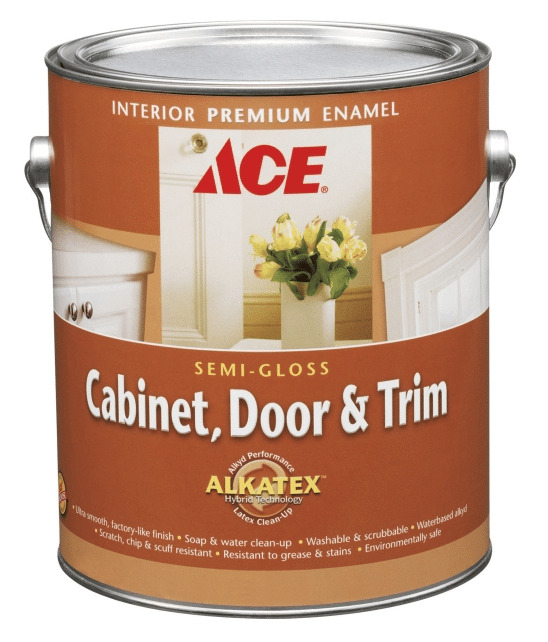 Painting cabinets is easy with Ace Hardware Cabinet, Door and Trim Paint!