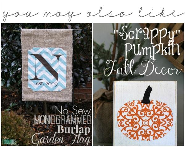 Burlap Garden Flag and Pumpkin Fall Decor