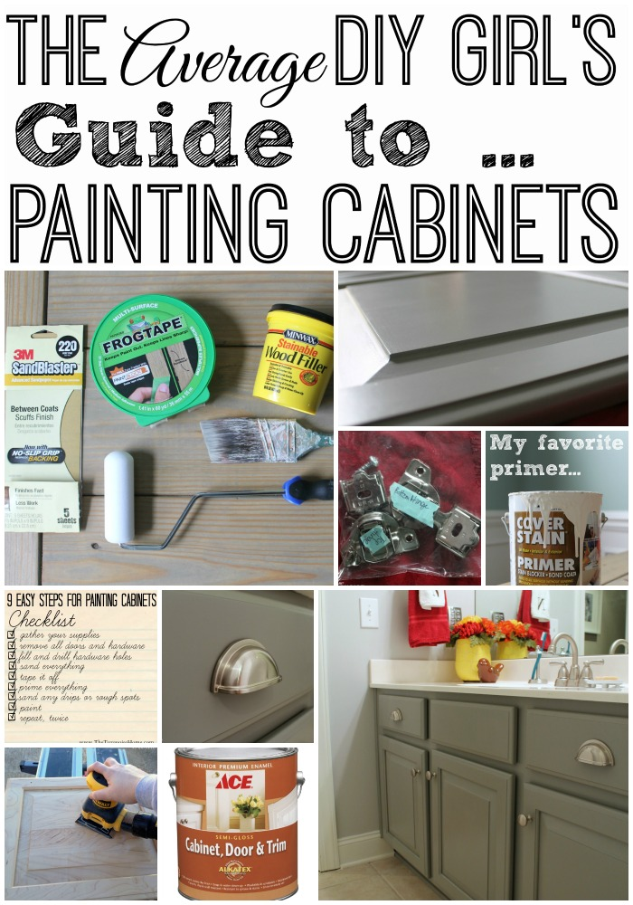 Painting cabinets can be overwhelming, but doesn't have to be! Follow these simple steps (without pro tools) and you'll have cabinets you love in no time!!