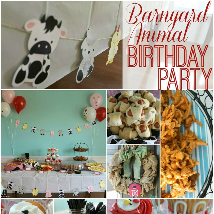 Barnyard Animal Birthday Party {with a cute paper garland}