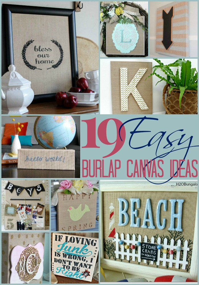 19 Inspirational Burlap Canvas Ideas | The Turquoise Home