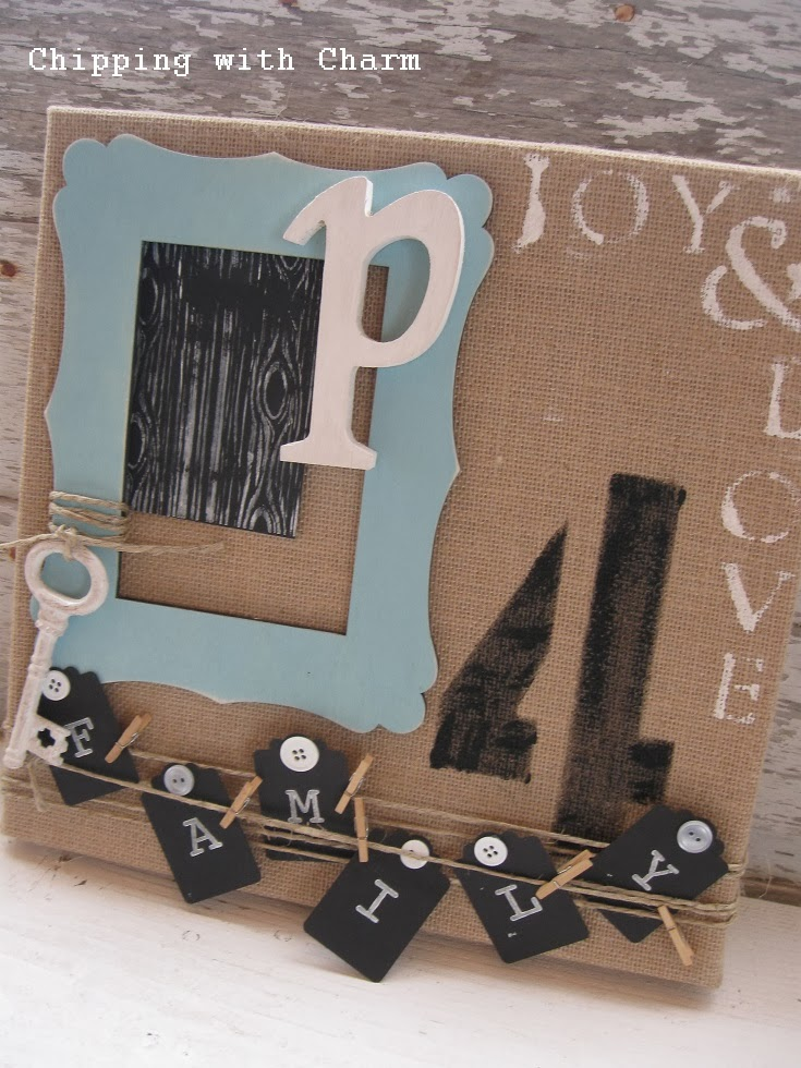 Awesome Crafty Burlap Canvas Art