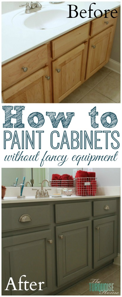 Painted Bathroom Cabinets Before And After the average diy girl's guide to painting cabinets