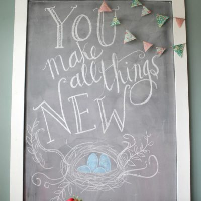 Spring is Coming {Chalkboard Art}