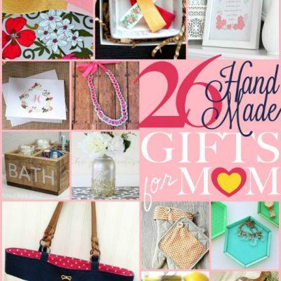 26 Handmade Gifts for Mom via TheTurquoiseHome.com