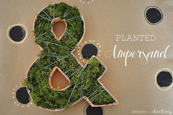 DIY Planted Moss Ampersand