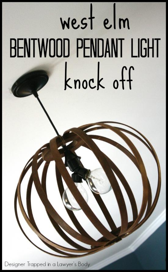 West Elm Brentwood Knock-Off Light