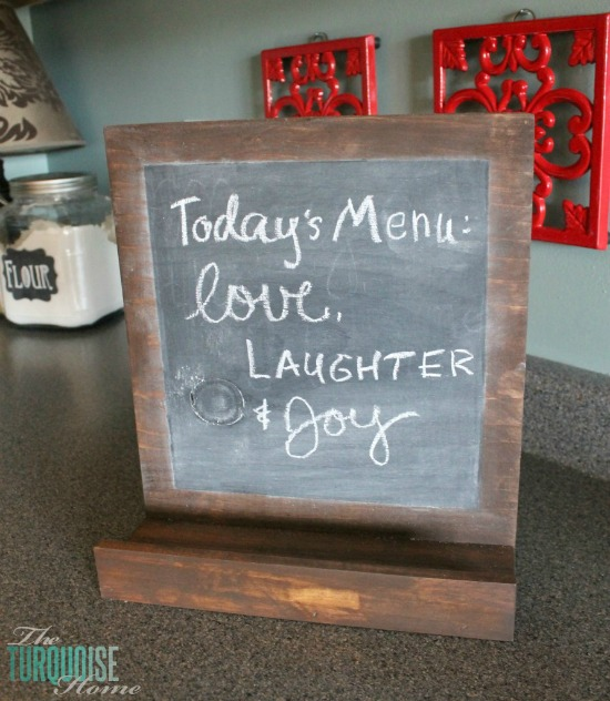 DIY Chalkboard iPad and Cookbook Stand