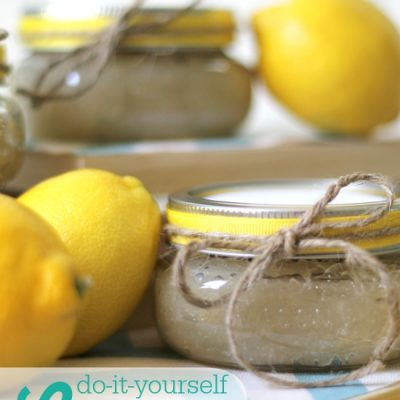 How to Make Lemon Sugar Scrub {Makes a fabulous Mother's Day Gift!}