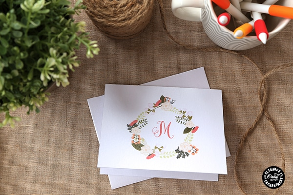 Free Printable Monogram Notecards