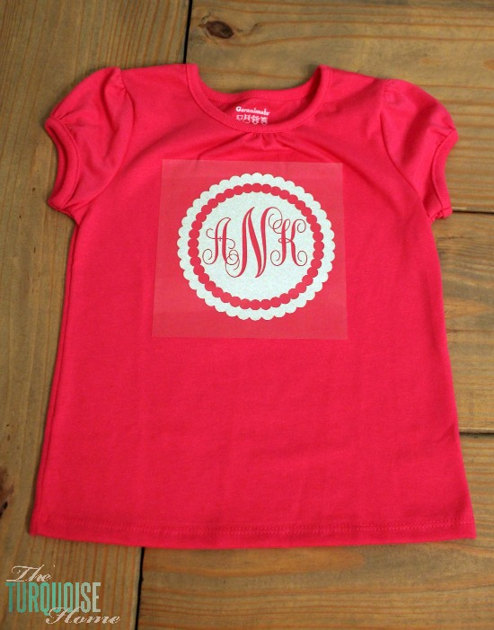 DIY Glittery Monogrammed T-shirt