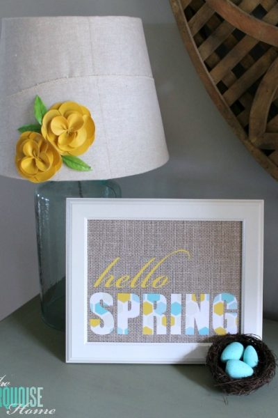 """Free """"Hello Spring"""" Printables at TheTurquoiseHome.com"""